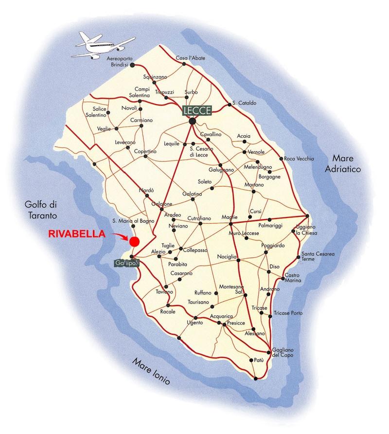Cartina Geografica Italia Gallipoli.Dove Siamo Residence Gallipoli Le Dune